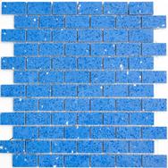 Quarz Natursteinmosaik blau