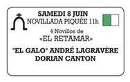 Novillos d'El Retamar pour El Galo et Dorian Canton