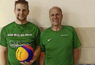Waren überwältigt von der Resonanz aufs Poolballspiel: SSG-Vorsitzender Tobias Brodda (links) und Jugendtrainer Thomas Göke Foto: Julienne Rogg
