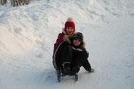 Снежная горка в парке Пушкино