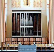 Die Klais-Orgel von 1966 in der wiederaufgebauten Kirche