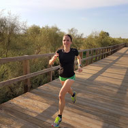 Trainingslager Monte Gordo: Anja beim Laufen