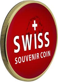 wunderschöne Hand kolorierte swiss souvenir coins