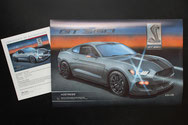 Shelby GT350 art print by Lemireart