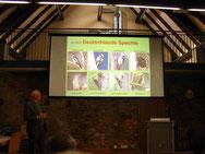 Heinz Kowalski (NABU) beschreibt den Grünspecht und seine Verwandtschaft