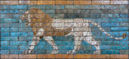 Lion de la porte d'Ishtar à Babylone