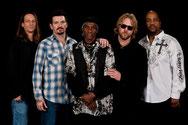 Coole Blues-Gang (v.l.n.r.): Charlie Wooten, Mike Zito, Cyril Neville, Devon Allman und Yonrico Scott (Foto: RSB)