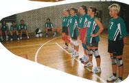 Team vorm Spielbeginn 2000