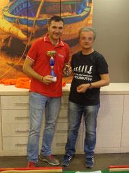 Roberto Coppolino premiato dal presidente Battaglia