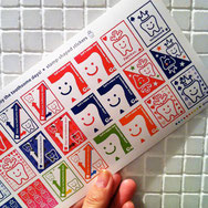 stamp-shaped stickers