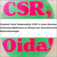 Akademische/r CSR-Manager/in, Corporate Social Responsibility, B-to-B, Medienhaus, Verlag, B2B, Alexandra Adler, ISO26000, Stakeholder, CSR