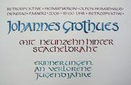 Einladung, Kalligraphie von Ulla Zymner