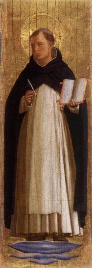 """Beato Angelico, """"Ritratto di San Tommaso"""""""