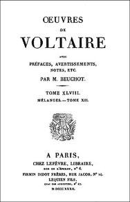 Voltaire (1694-1778) : Lettres chinoises et tartares à M. Pauw, par un bénédictin Firmin Didot frères, Paris, 1832, tome 48 des œuvres de Voltaire, pages 186-229 et 244-254. Première édition 1776.