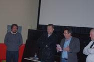 de gauche à droite : Mrs Romain Bonnot, Michel Moine, Gilles Pallier et Philippe Lacoste