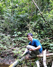Trinh at work at Bukit Timah