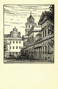 Atvirlaiškis / Bischofliches Palais in Wilna