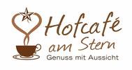 Logo vom Hofcafè Stern mit Kaffeetasse, Stern und Herz