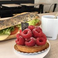 Tartelette à la fraise chez Ma Boulangerie Café