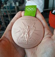 Bronze Medallie von Fabian Wiede Foto: privat
