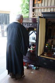 仏壇供養の様子