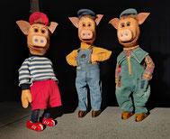 """Figurentheater Gingganz: """"Die 3 Schweinchen und der Wolf"""""""