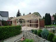 Gartenhaus Aufbau der Konstruktion