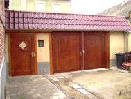 Tor und Tür aus Meranti