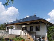 Deckung mit Prefa Dachplatten Anthrazit