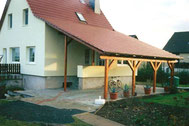 Carport mit Dachziegeln