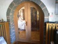 Zimmertür mit Bogen aus Buche