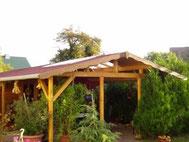 Terrassenüberdachung mit Bitumenschindeln