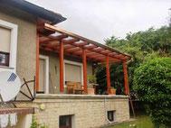 Terrassenüberdachung mit Glas