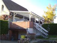 Terrassenüberdachung mit Hohlkammerplatten