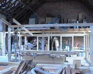 Wintergarten - Aufbau in der Werkstatt