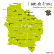 Région Picardie et maintenant Hauts-de-France.