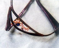 メガネの装飾部分