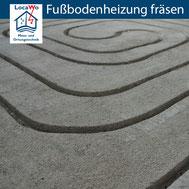 Fußbodenheizung fräsen