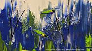 Bild Grün schwebt in Blau Mechthilde Gairing