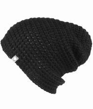 Baby Alpaka Mütze Schwarz dick und warm