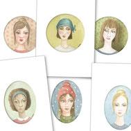 famille, portrait, visage, CE, cadeau d'entreprise, cadeau, noel, plaisir d'offrir, photo de famille, portrait de famille, aquarelle, miniature, dessin, reprographie, parent, enfant, cadeau, offrir, idée cadeau, boutique, Dorothée, piatek