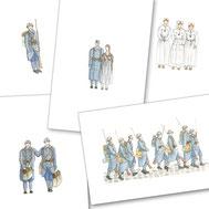 1914/18, Première Guerre Mondiale, soldat, bleu horizon, fusil, casque, infirmière, crois rouge, centenaire, photo,