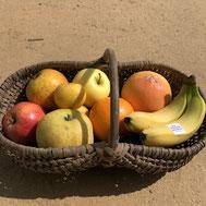 pommes oranges bananes et pamplemousses proposés aux saveurs de gatine