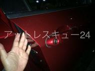 E84型BMW X1キー閉じ込み ドアロック鍵開け