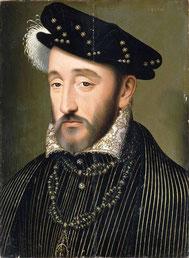 Генрих II, портрет работы Ф. Клуэ.