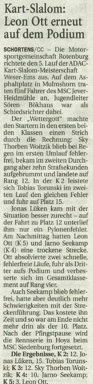 Wilhelmshavener Zeitung 31.05.2017