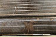 熱交換器(アルミフィン)ビフォー|エアコンクリーニング