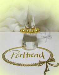 Finger Schmuck Simple Pearls Golden