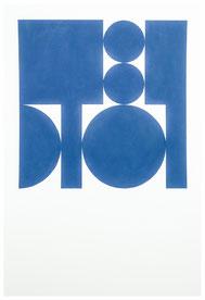Ellen Roß: squares & circles n°2, 2018, 30 x 46, Acryl auf Bütten