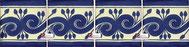 Cenefa Azulejo Talavera modelo Greca Azul en 10.5 x 10.5 cm, ideal para baños y cocinas mexicanas lo encuentras en Rústicos Artesanales visítanos en nuestra web www.rusticosartesanales.com